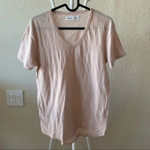 Assembly Label Rusty Pink Cotton Linen Tee US4